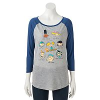 Juniors' Hey Arnold! Raglan Graphic Tee