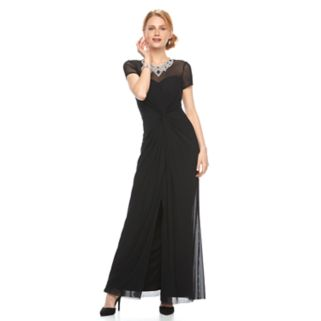 Women's Onyx Nite Embellished Illusion Evening Gown