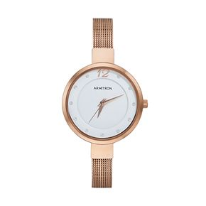 Armitron Women's Crystal Mesh Stainless Steel Watch - 75/5465WTRG