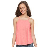 Juniors' SO® Lace-Up Back Halter Top