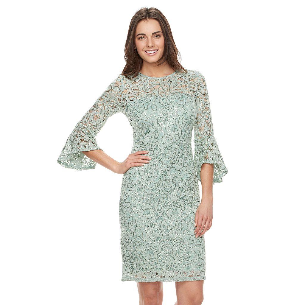 Women's Onyx Nite Embellished Lace Sheath Dress