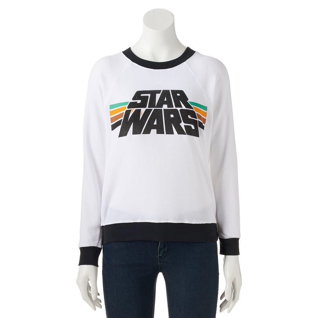 Juniors' Star Wars Raglan Graphic Sweatshirt