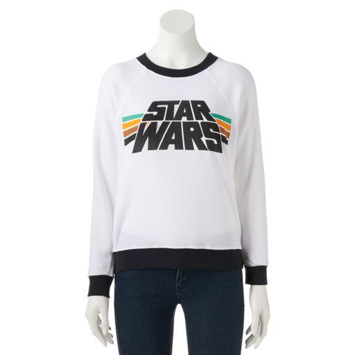 Juniors' Star Wars Raglan Graphic Sweatshirt