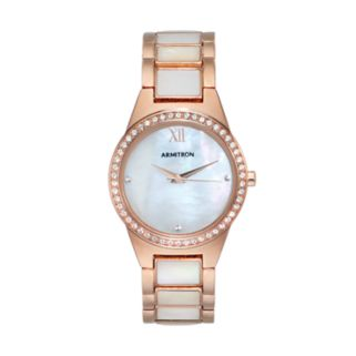 Armitron Women's Crystal Mother-of-Pearl Watch - 75/5468MPRG