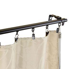 Rod Desyne Armor Wall Mount Adjustable Traversing Curtain Track
