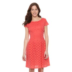 Women's Ronni Nicole Circle Lace Fit & Flare Dress