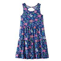 Girls 7-16 & Plus Size SO® Twist Back Patterned Skater Dress