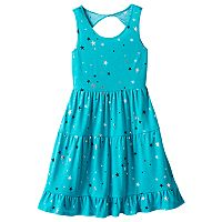 Girls 7-16 & Plus Size SO® Twist Back Patterned Skater Dress
