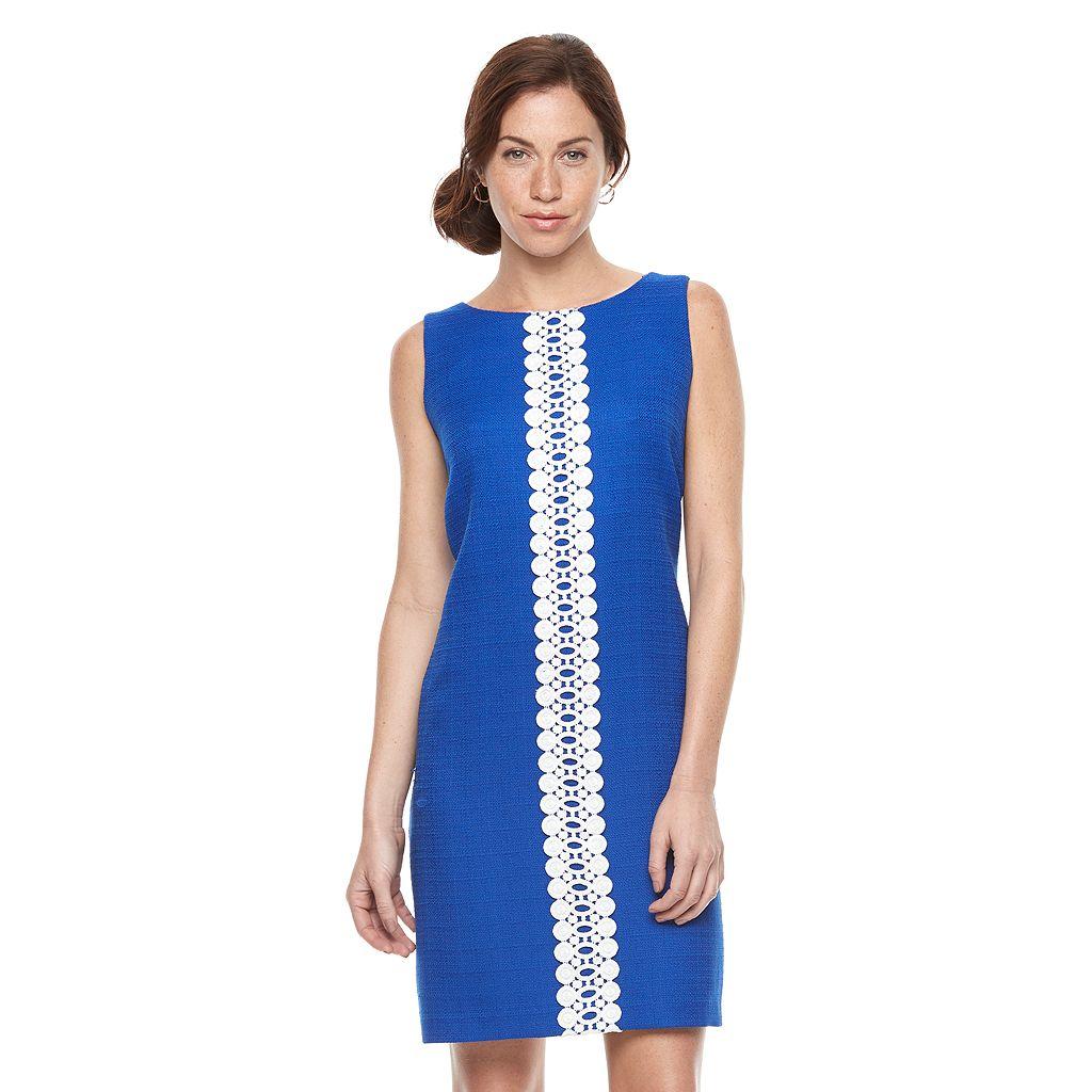 Women's Ronni Nicole Lace Inset Shift Dress