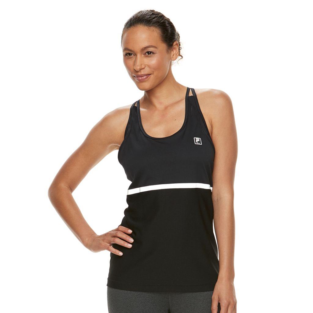 Women's FILA SPORT® 2-in-1 Sports Bra & Racerback Tank Top