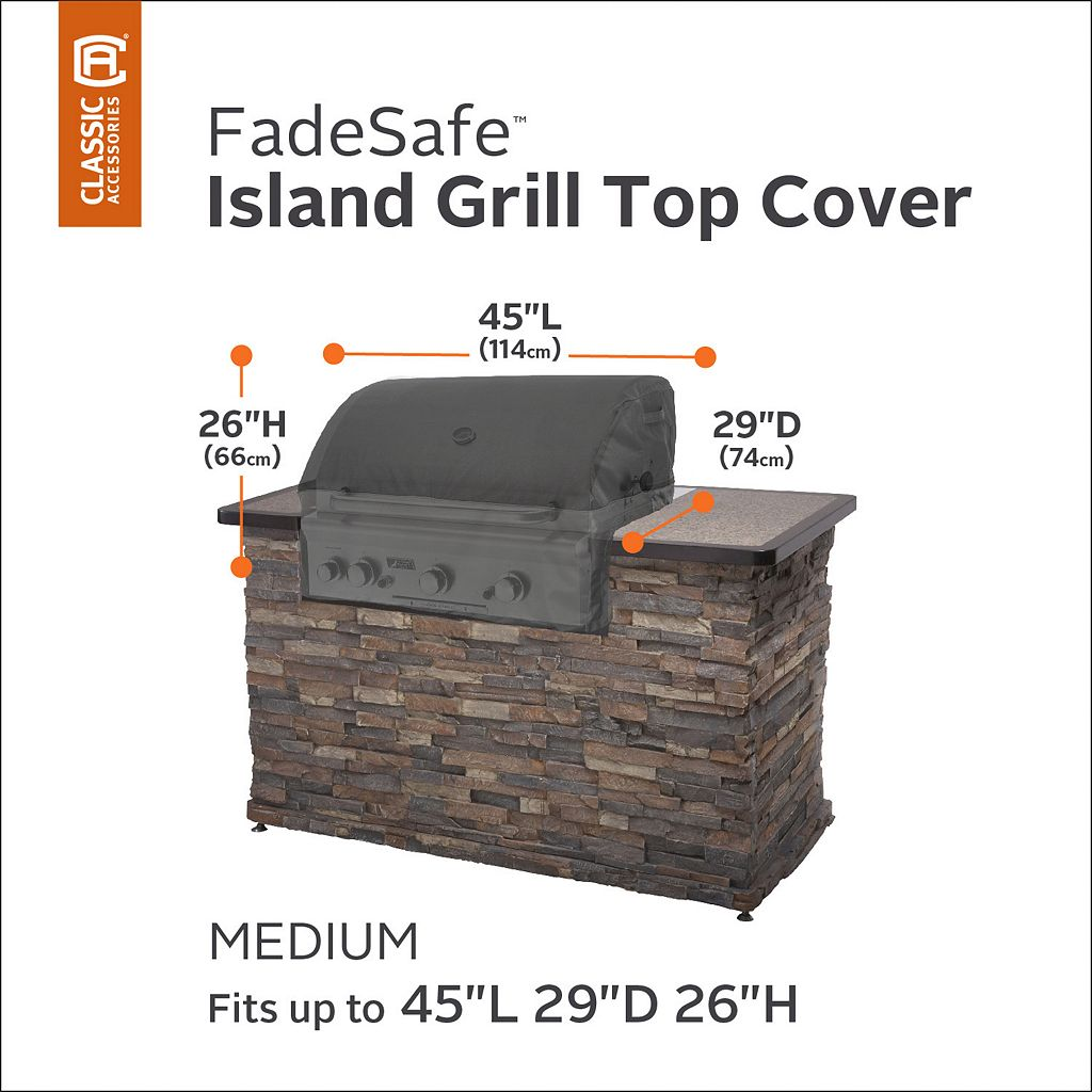 Veranda Medium Outdoor Grill Island Top Cover