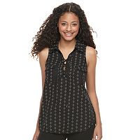 Juniors' Candie's® Printed Lace-Up Top