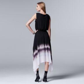 Petite Simply Vera Vera Wang Ombre Dress