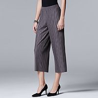 Women's Simply Vera Vera Wang Pleated Wide-Leg Crop Pants