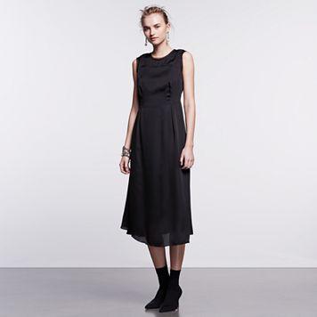 Petite Simply Vera Vera Wang Simply Noir Satin Shift Dress