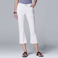 Petite Simply Vera Vera Wang Flared Crop Jeans