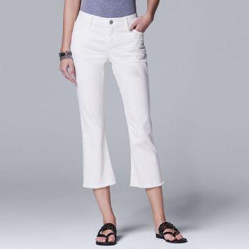 Petite Simply Vera Vera Wang Flared Crop Jeans