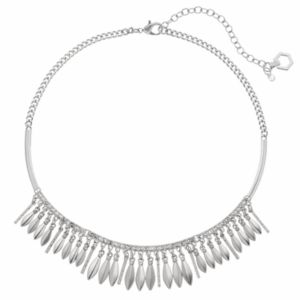 Simply Vera Vera Wang Curved Bar Marquise Fringe Necklace