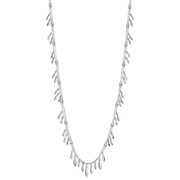 Simply Vera Vera Wang Marquise Fringe Station Double Strand Necklace