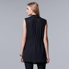 Women's Simply Vera Vera Wang Eyelet Vest