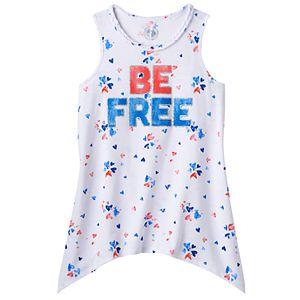 Girls 7-16 & Plus Size SO® Americana Sharkbite Tank Top