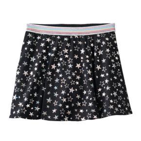 Girls 7-16 & Plus Size SO® Shiny Patterned Skater Skort