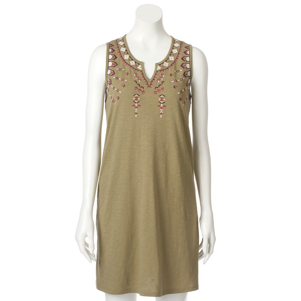 Women's SONOMA Goods for Life™ Embroidered Tank Dress