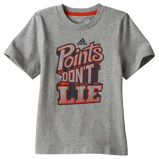"Boys 4-7x adidas ""Points Don't Lie"" Tee"