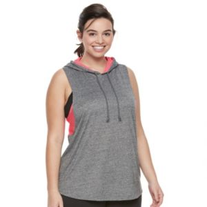 Juniors' Plus Size SO® Heathered Sleeveless Hoodie