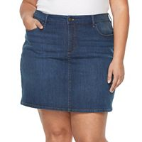 Plus Size Croft & Barrow® Essential Jean Skort