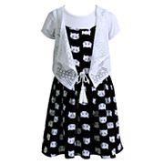 Girls 4-6x Youngland Dress, Tee & Vest Set