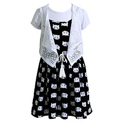 Girls 4-6x Youngland Dress, Tee & Vest Set