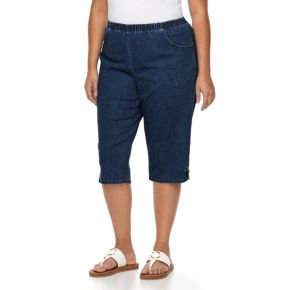 Plus Size Croft & Barrow® Embellished Skimmer Capris