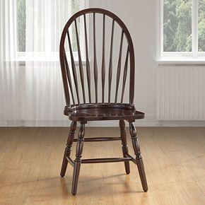 Windsor Round Slat Back Dining Chair