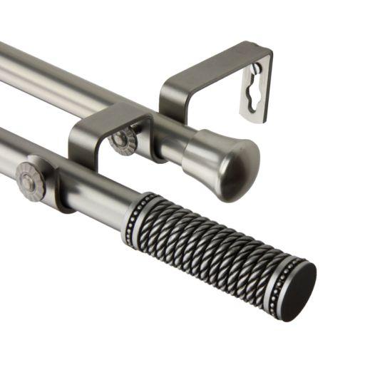 Rod Desyne Threaded Adjustable Double Curtain Rod