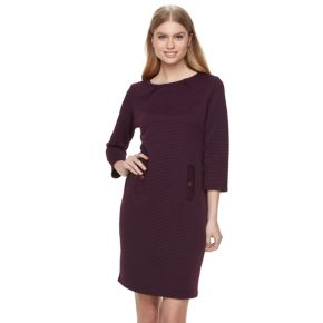 Women's Nina Leonard Pleated Sheath Dress