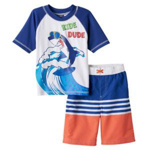 Toddler Boy I-Extreme Rashguard & Swim Trunks Set