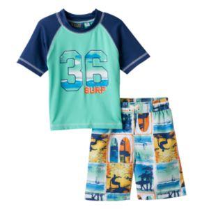 Boys 4-7 I-Extreme Rashguard & Swim Trunks Set