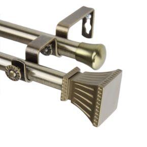 Rod Desyne Trumpet Adjustable Double Curtain Rod
