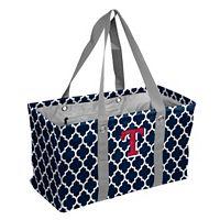 Logo Brand Texas Rangers Quatrefoil Picnic Caddy