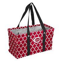 Logo Brand Cincinnati Reds Quatrefoil Picnic Caddy