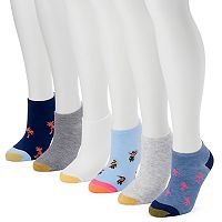 Women's GOLDTOE 6-pk. Beach Liner Socks