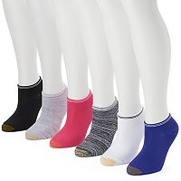 Women's GOLDTOE 6 pkStriped Soft No Show Socks