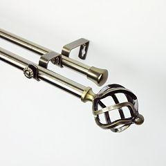 Rod Desyne Twist Adjustable Double Curtain Rod