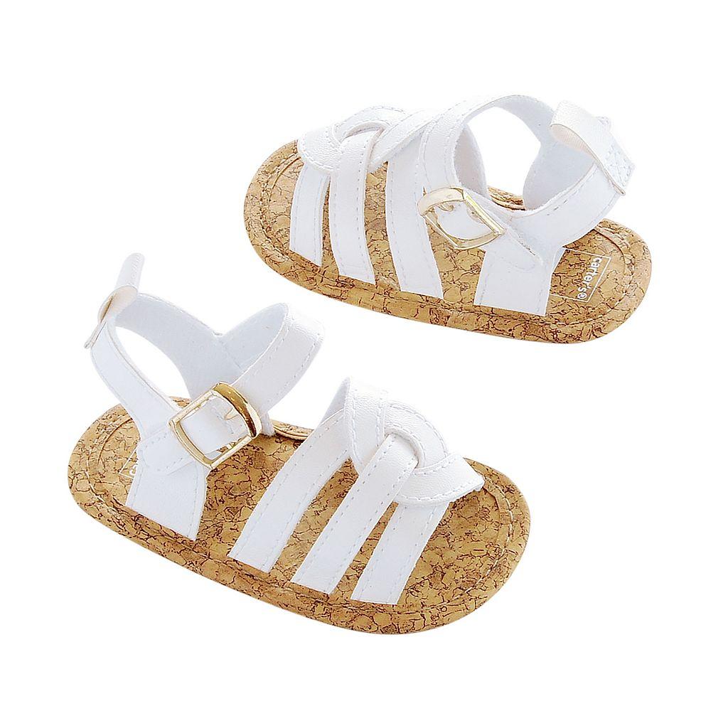 Newborn Baby Girl Carter's Cross-Front Sandal Crib Shoes