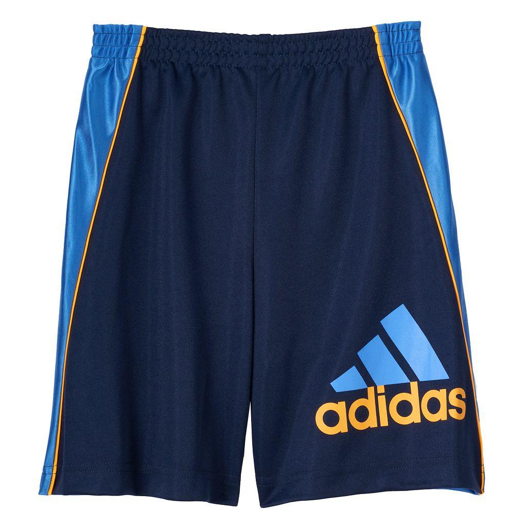 Boys 4-7x adidas Color-Blocked Logo Athletic Shorts