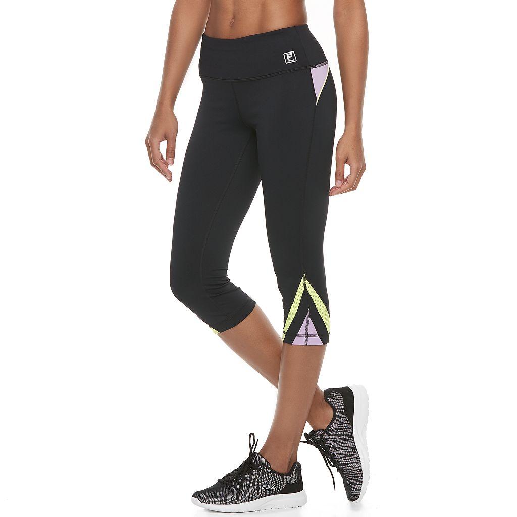 Women's FILA SPORT® Contrast Inset Capri Leggings