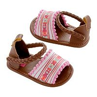 Newborn Baby Girl Carter's Embroidered Espadrille Crib Shoes