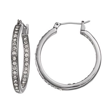 Simply Vera Vera Wang Nickel Free Inside Out Hoop Earrings