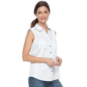 Women's Croft & Barrow Knit to Fit Sleeveless Shirt